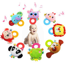 Rattle Baby Toys Cartoon Panda Elephant Owl Animal Rattles Doll Baby Toys 0-12 Months Educational Toys Mobile For Boy Girl(China)