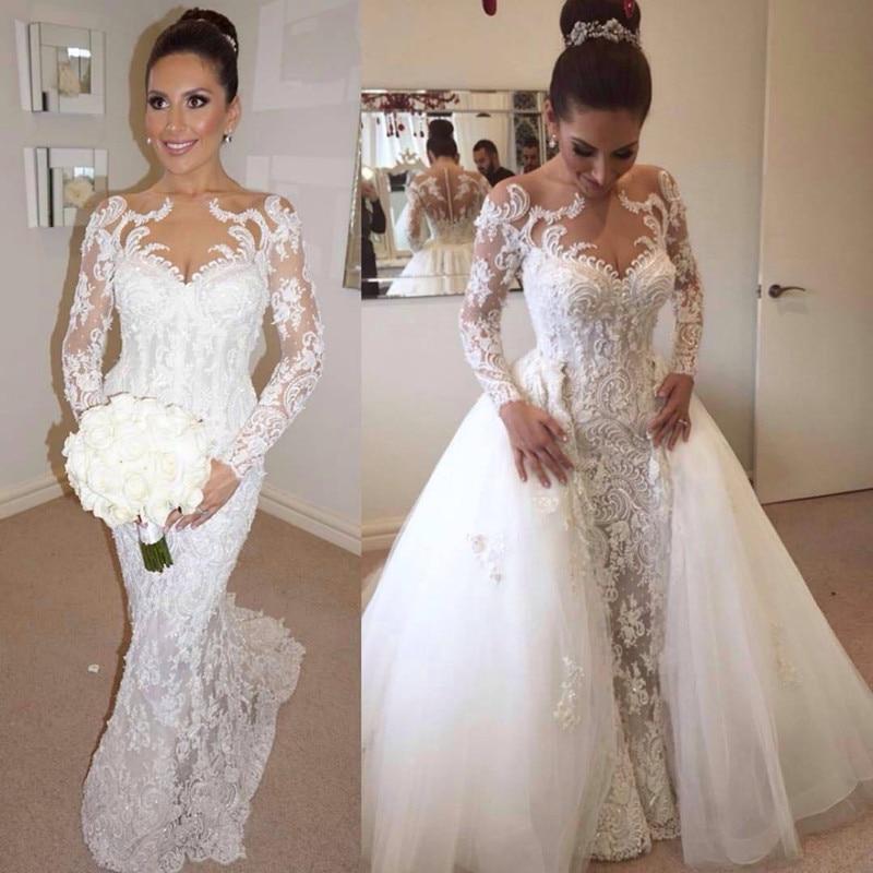 Popular detachable wedding dress buy cheap detachable for 2 in 1 wedding dress designers