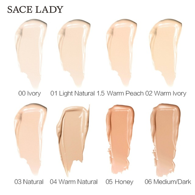 SACE LADY Full Cover 8 Colors Liquid Concealer Makeup 6ml Eye Dark Circles Cream Face Corrector Waterproof Make Up Base Cosmetic 3
