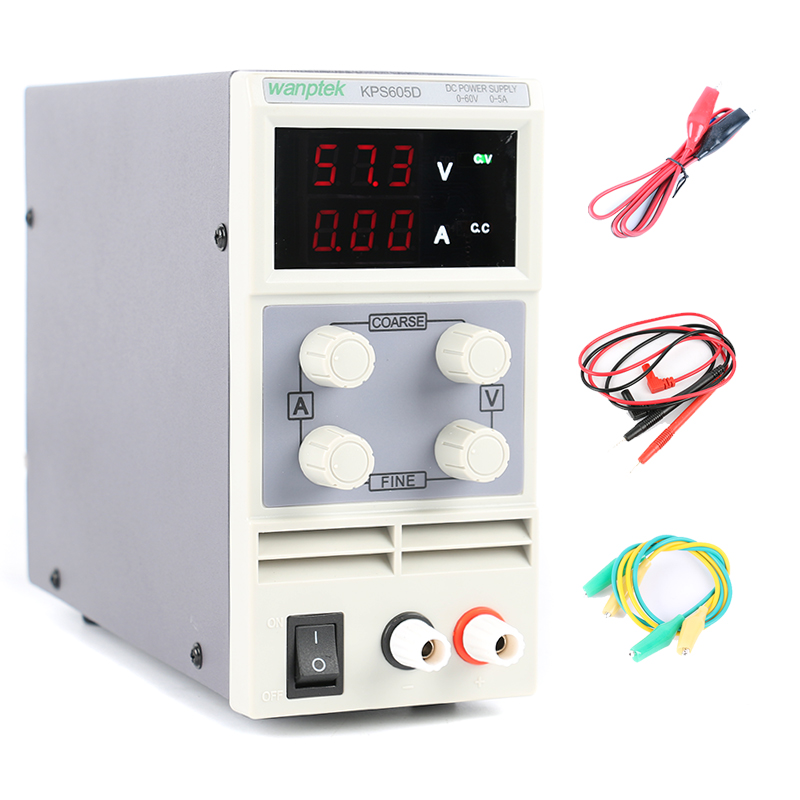 KPS-605D Adjustable Digital DC Power Supply 60V 5A Laboratory Switching Power Supply 0.1V 0.01A US/EU/AU Plug 110V or 220V kuaiqu mini dc power supply switching laboratory power supply digital variable adjustable power supply 0 60v 0 5a ps605d