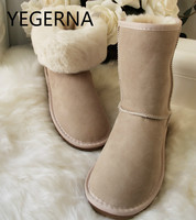 2017 Hot Selling 100 Real Sheepskin Brand Classic Snow Boots New Fashion Women Men Snow BootsFor