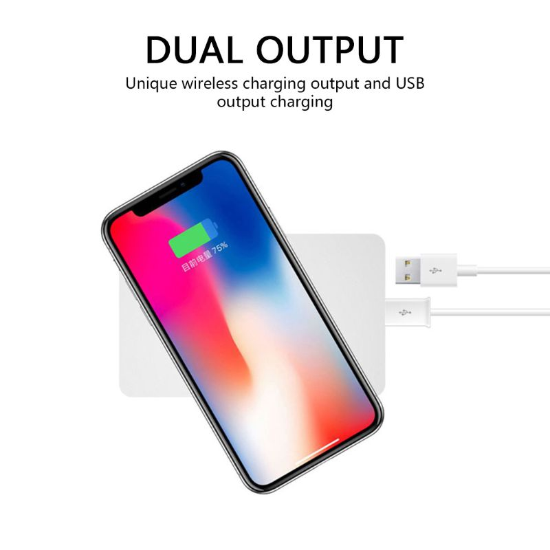Wireless Charger Pad for iPhone 8 Samsung Galaxy S9 Plus S8 Note 8 Huawei Mate RS Mate 20 P30 Xiaomi 9 Fast USB Output Induction
