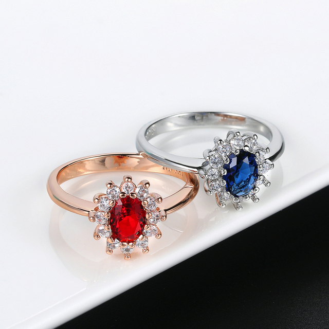 Blue Crystal Silver Color Ring Jewelry Made with Genuine SWA ELEMENTS From Austria 5 Multi Sizes Wholesale R076