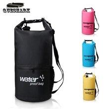 20L ПВХ плавательные водонепроницаемые сумки Каякинг каноэ для хранения при сплаве сухой мешок пакеты спортивные рюкзаки
