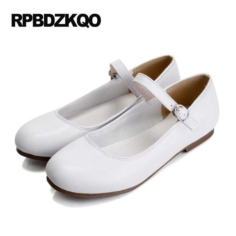 07ab64b7b8d0 Large Size Ladies Beautiful Flats Shoes Mary Jane 43 Women Round Toe Cheap  Custom 2017 Plain