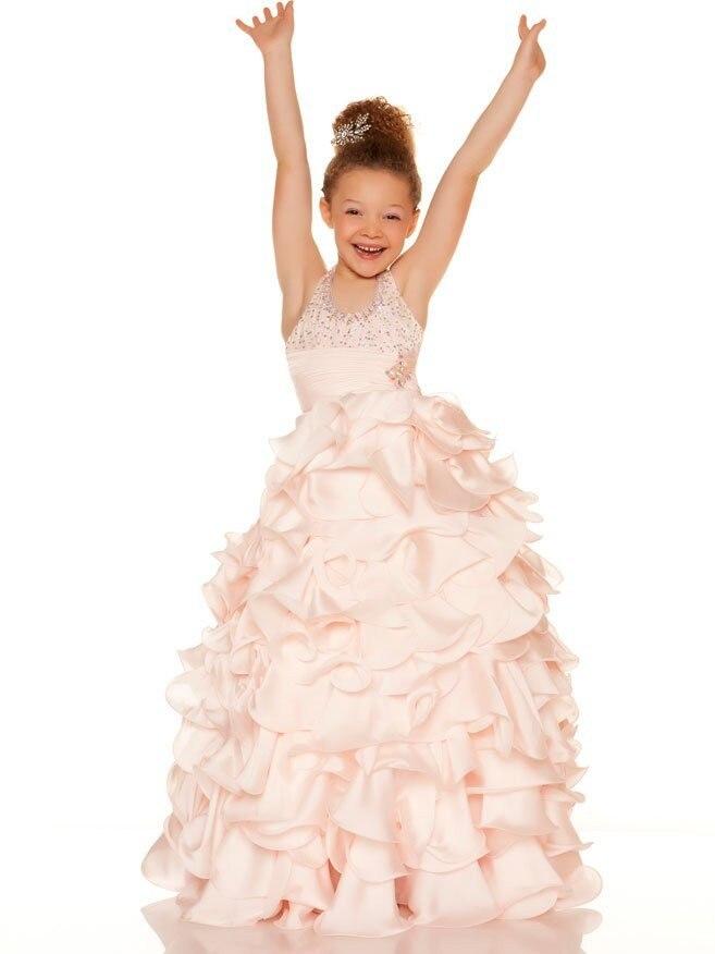 Здесь можно купить   2017 New Ball Gown First Communion Dresses for Girls Sleeveless Mother Daughter Gowns Ankle-Length Mother Daughter Dresses Детские товары