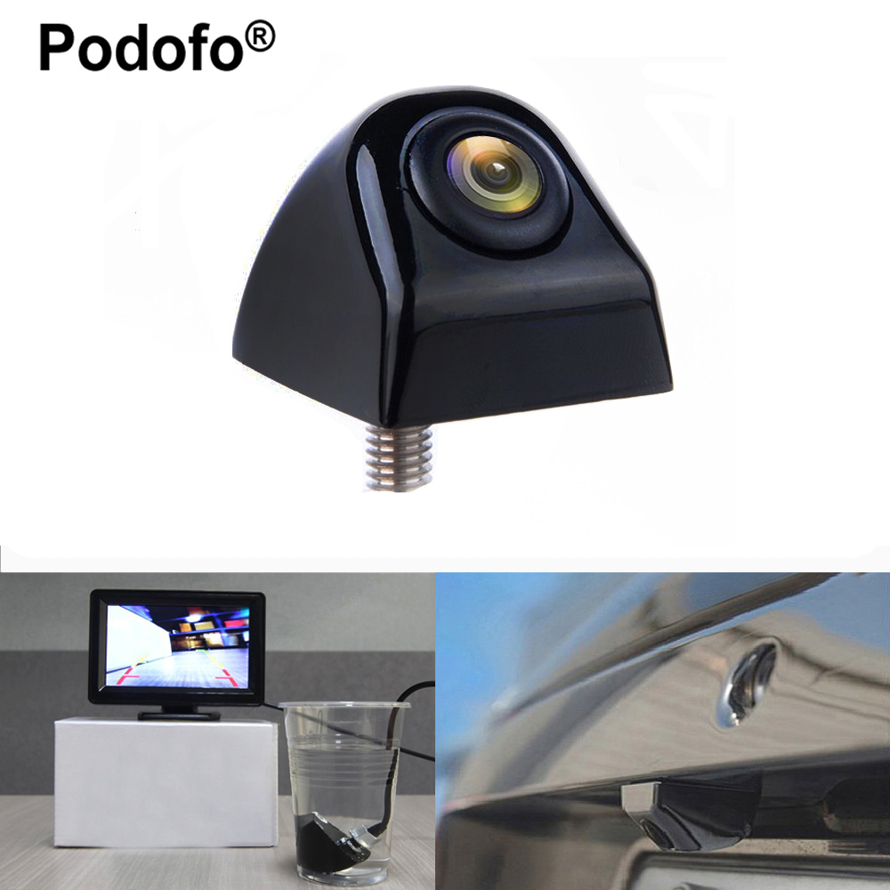 Podofo Waterproof Rear View Camera 170 Degree Wide Angle Car Back Reverse Camera Parking Assistance Backup Camera Car-styling