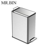 MR. BIN 9L Nordic простой педаль мусорный бак Экономия пространства дома и Кухня мусорное ведро Anti fingerprint печать Дизайн для Мусора