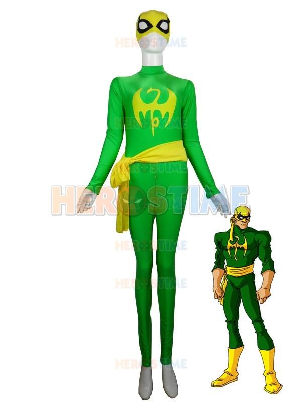 Freeshipping iron Fist Spandex Superhero Cosplay Costume