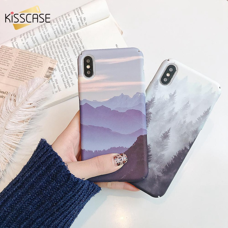 KISSCASE Mountain Forest Phone Case For Xiaomi Redmi Note 7 5 4X 6 Pro Hard PC Cover 9 8 Play 5X A1 Go Capa Fundas