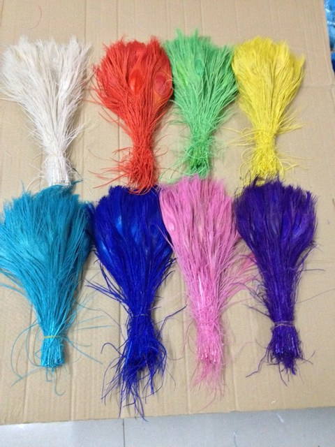 25cm 30cm Wedding Party Handmade DIY Peacock Feather Happy Birthday Decorations Supplies 100pcslot