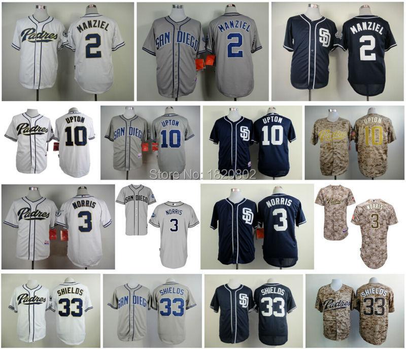 buy popular eed19 7ae06 San Diego Padres 2 Johnny Manziel 3 Derek Norris 10 Justin ...