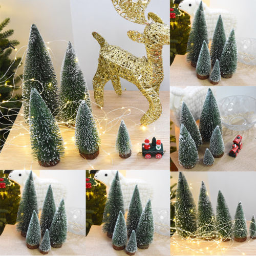 Newest Arrivals faroot 2018 Christmas Tree Mini Cedar Ornaments Party Dolls House Miniature Decorb image