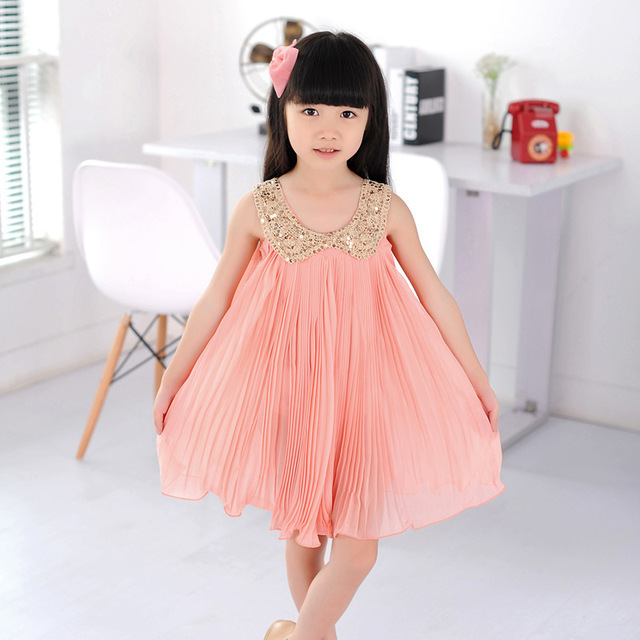 2015 nueva princesa de la marca party girl vestido 3 ~ 11age collar ...