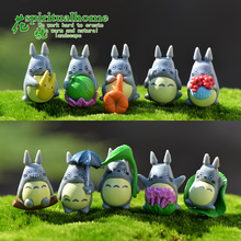 Classic PVC Totoro Toys 10pcs/Set Hot Anime Cartoon Cute Totoro Action Figures Baby Kids Toys Home Decor Free Shipping
