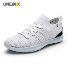 Onemix Men Shoes Black Lazy Sock Sneakers Breathable Walking Shoes for Man Outdoor Road Running Shoes Slip-on Athletic Shoes new men athletic breathable road slip on hard court sport leather walking shoes autolock sapato ciclismo sneakers