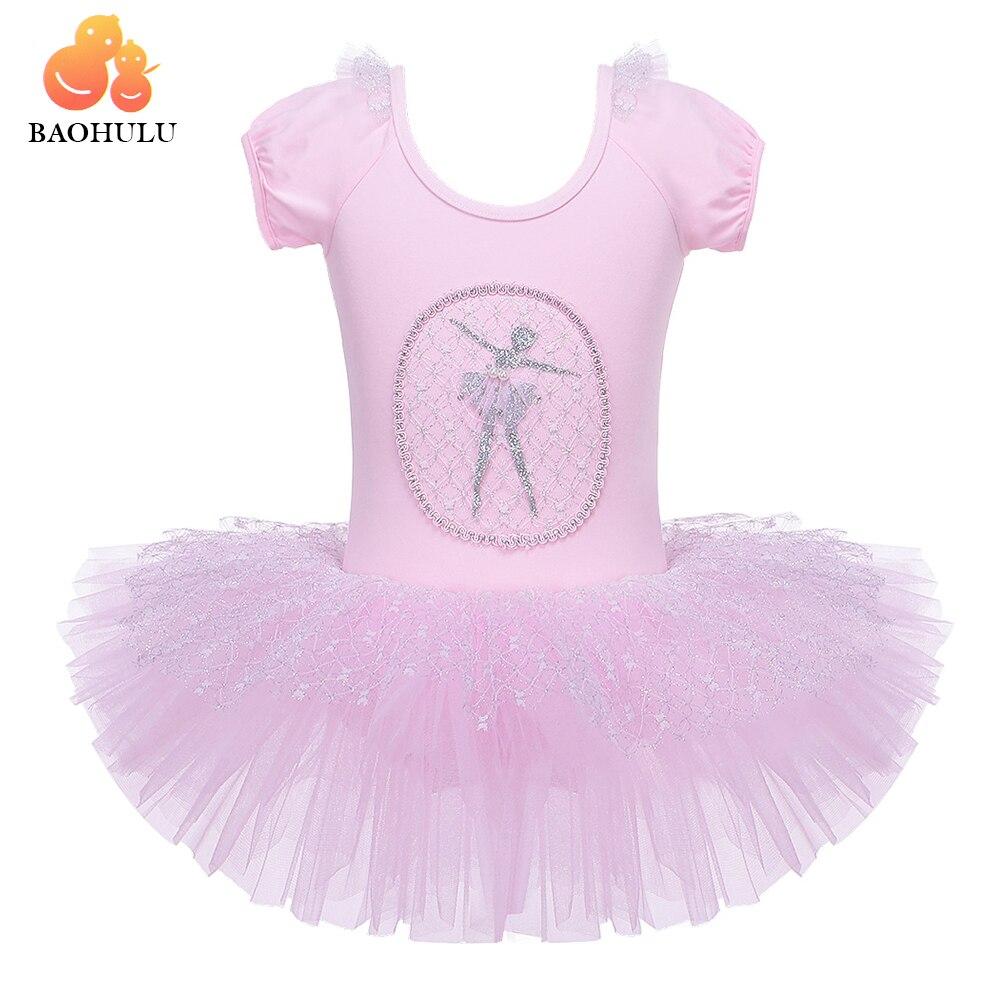 667d07172 BAOHULU Pink Girls Sequined Ballet Tutu Dress Children Gymnastics ...