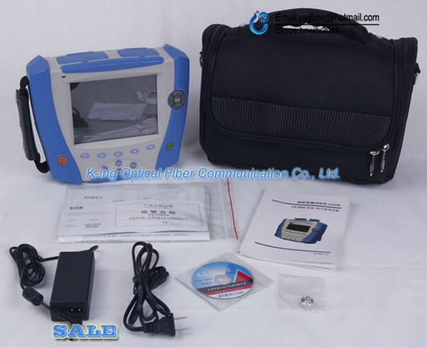 Envío libre AE3000A Deviser 33/31dB OTDR FC/SC FTTH OTDR de Mano 1310/1550 Incorporado VFL tiempo Óptico-reflectómetro de dominio