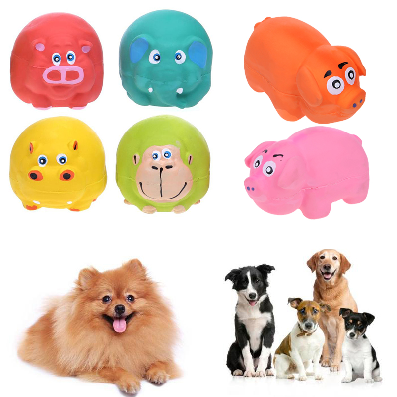 1PC Latex Animal Dog Sound Ball Toys Anti Squeeze Bite Resistant Dog Molars Toy for Pets Animals Playing Dog Accessories