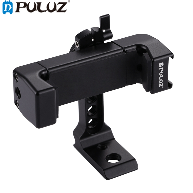 PULUZ PU367 360 Degree Rotating Universal Phone Metal Clamp Clip Holder Bracket for Android for IOS