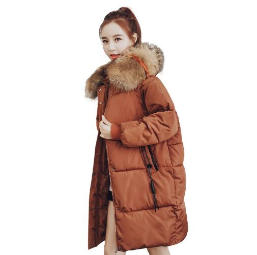 2018 Winter Maternity Hooded Coat Women Thicken Warm Long Jacket Pregnancy Cotton Padded Outerwear Parka real fox fur warm hooded padded jacket women solid color casual manteau femme hiver medium long parka slim coat cotton tt3461