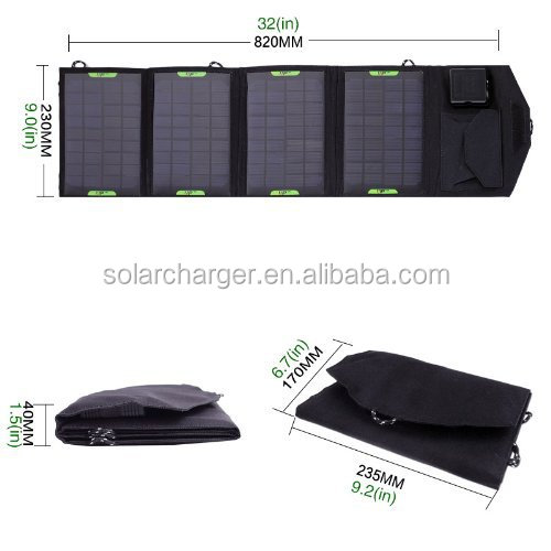 ФОТО 14W 18V Dual Output Waterproof Outdoor portable Folding Solar Panel Charger, USB 5V Device Charger