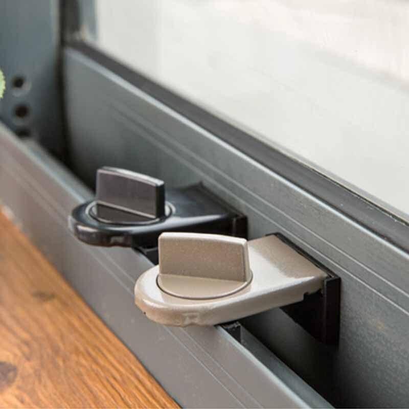 Sliding Window Locks Child Safety Lock Sash Windows Sliding Stopper Door Cabinet  Locks Thick Iron Kitchen