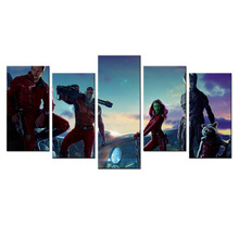 Modern Painting For Bedroom Marvel Movie Guardians Of The Galaxy Wall Poster HD Prints On Canvas 5 Panel Wall Pictures Canvas