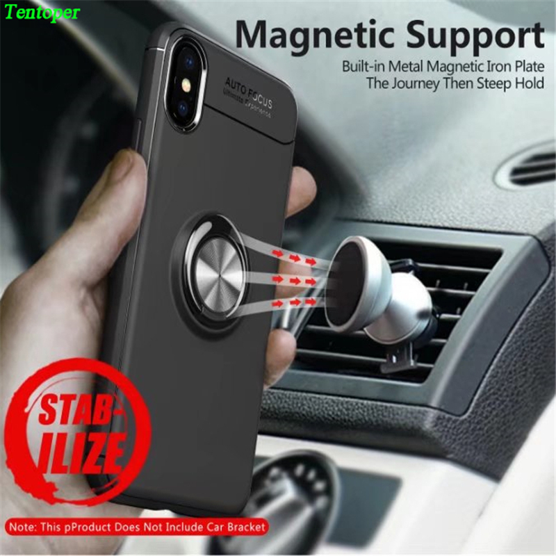 Luxury Case For iPhone X 6 7 8 Plus With Car 360 Rotation Ring Bracket Stand Cover For Samsung S9 S8 Plus J530 For Redmi Note 4x