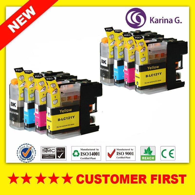 8 x картриджей для принтера brother LC121, J650DW/J870DW/J245/J132W/J152W