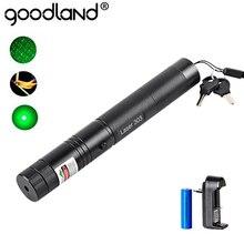 10000M Laser Pointer 5mW 18650 Batterie Powered Wiederaufladbare LED Taschenlampe 532nm 303 Grün Stift Sichtbare Strahl Licht LED taschenlampe