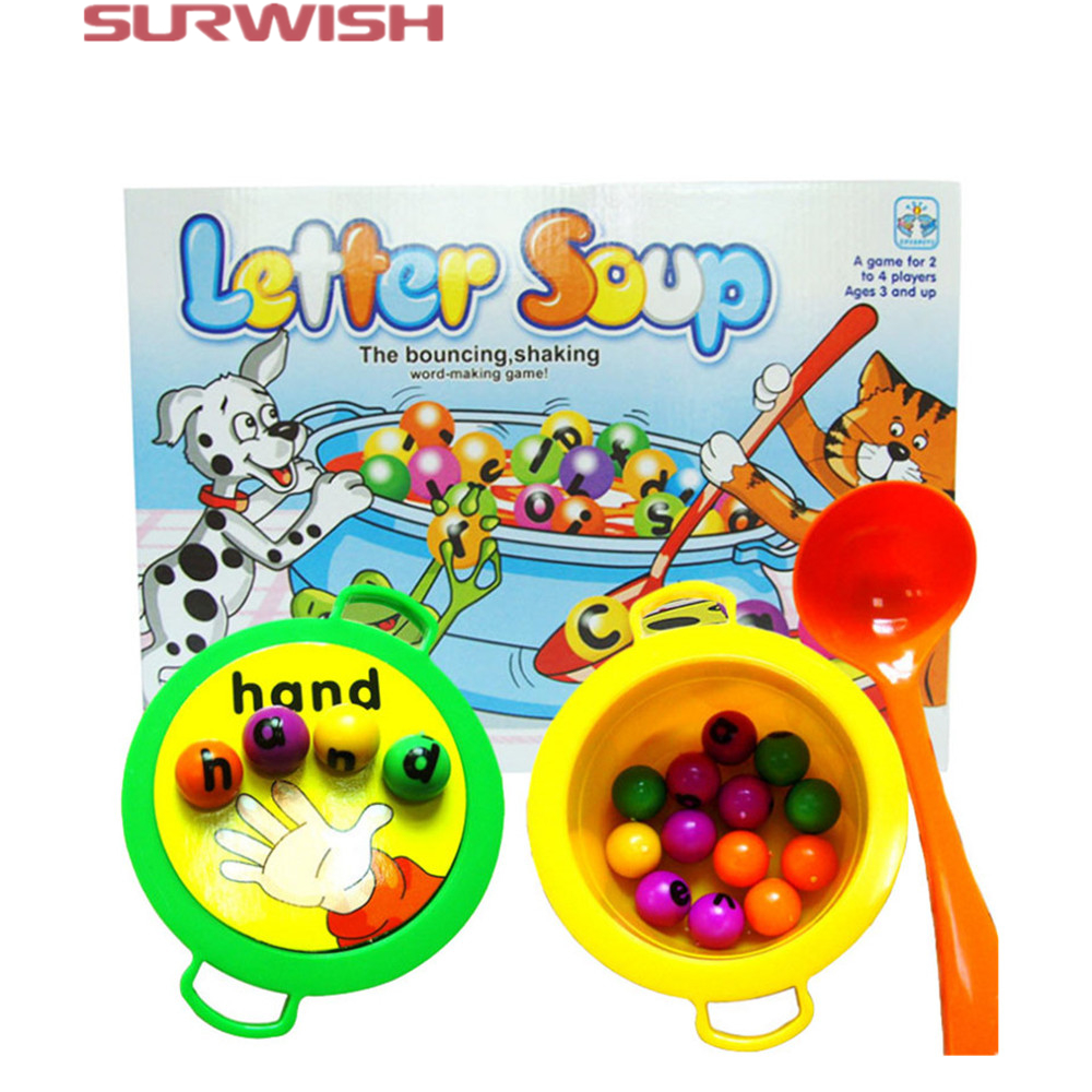 Electronic Learning Toys For Toddlers : ︻surwish plastic letter ⓪ soup matching word board