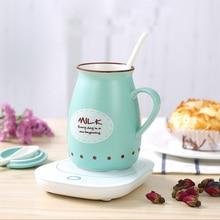 Desktop Cup Warmer Coffee/Tea Cup Heater 220V Mug Warmer Beverage Mug Heater Tray Pad Milk Tea Coffee Mug Hot Drinks Heater Cup