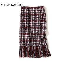 Falda de tela escocesa roja para mujer 2019 primavera y otoño falda de mujer otoño/invierno de cintura alta bolsa de lana a cuadros falda de la cadera