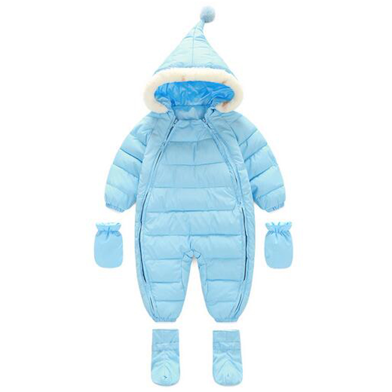 babzapleume Winter Rompers Newborn Snowsuits Baby Boys Girls Clothes Thick Warm Down Cotton Jumpsuit Infant Clothing Sets TY004 cotton newborn infant baby boys girls clothes rompers long sleeve cotton jumpsuit clothing baby boy outfits