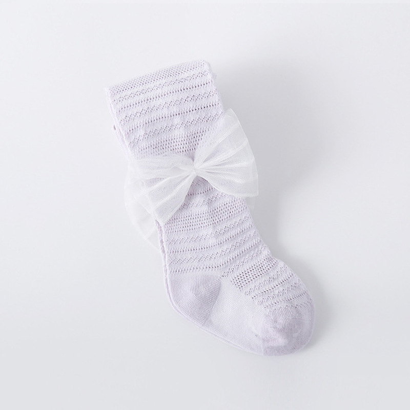 6 colors Baby Girls Socks Knee High with Bow Baby Princess for Girl Sweet Baby Socks Long Tube Kids Children Foot Accessories in Socks from Mother Kids