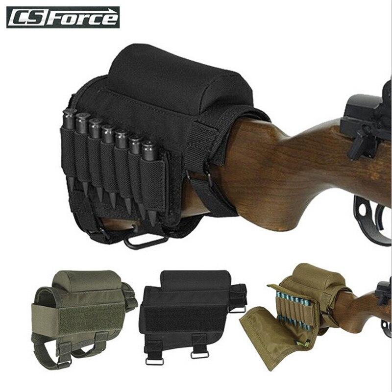 Tactical Rifle portadora de cartuchos Bolsa de munición 14 Redondo Trasero Titular De Concha De Stock