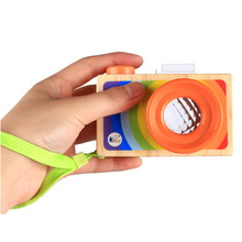 Wooden Simulation Camera Kaleidoscope for Toddlers & Kids – Educational Toy