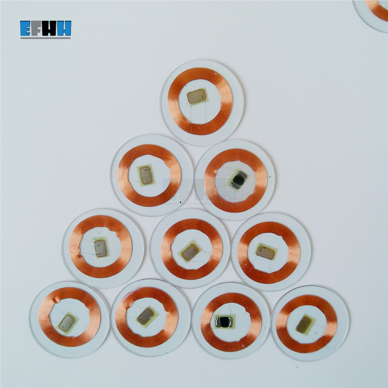 125KHZ TK4100/EM4100 Chip+Coil Diameter 25mm Transparent PVC Coin Card Read Only RFID ID Card In Access Control Card 18mm 3m stickers coin type 125khz rfid coil card em rfid chips 50pcs