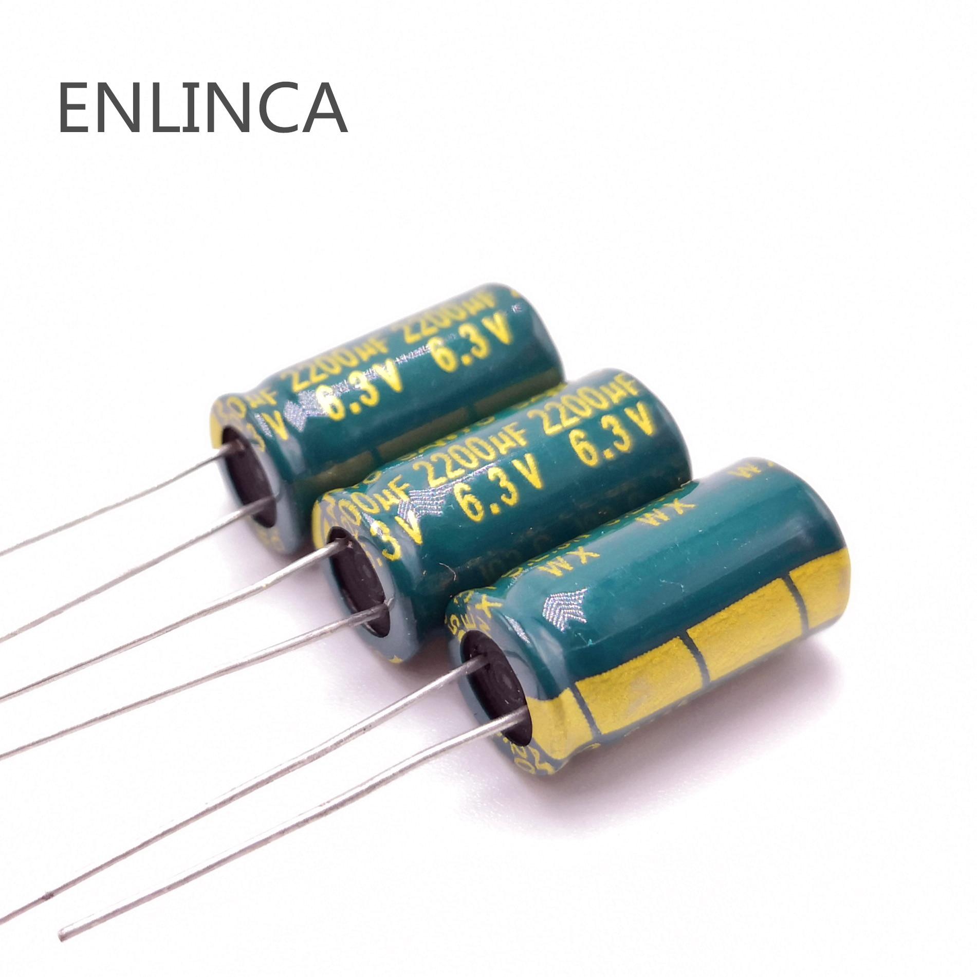 5pcs/lot 6.3v 2200UF 10*16 Low ESR / Impedance High Frequency Aluminum Electrolytic Capacitor 2200UF 6.3v  10*16 6.3v  2200UF