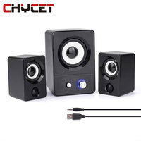 Chycet Portable Desktop Computer Mini Speaker 3 5mm Jack USB Home Audio Multimedia Stereo Subwoofer Computer