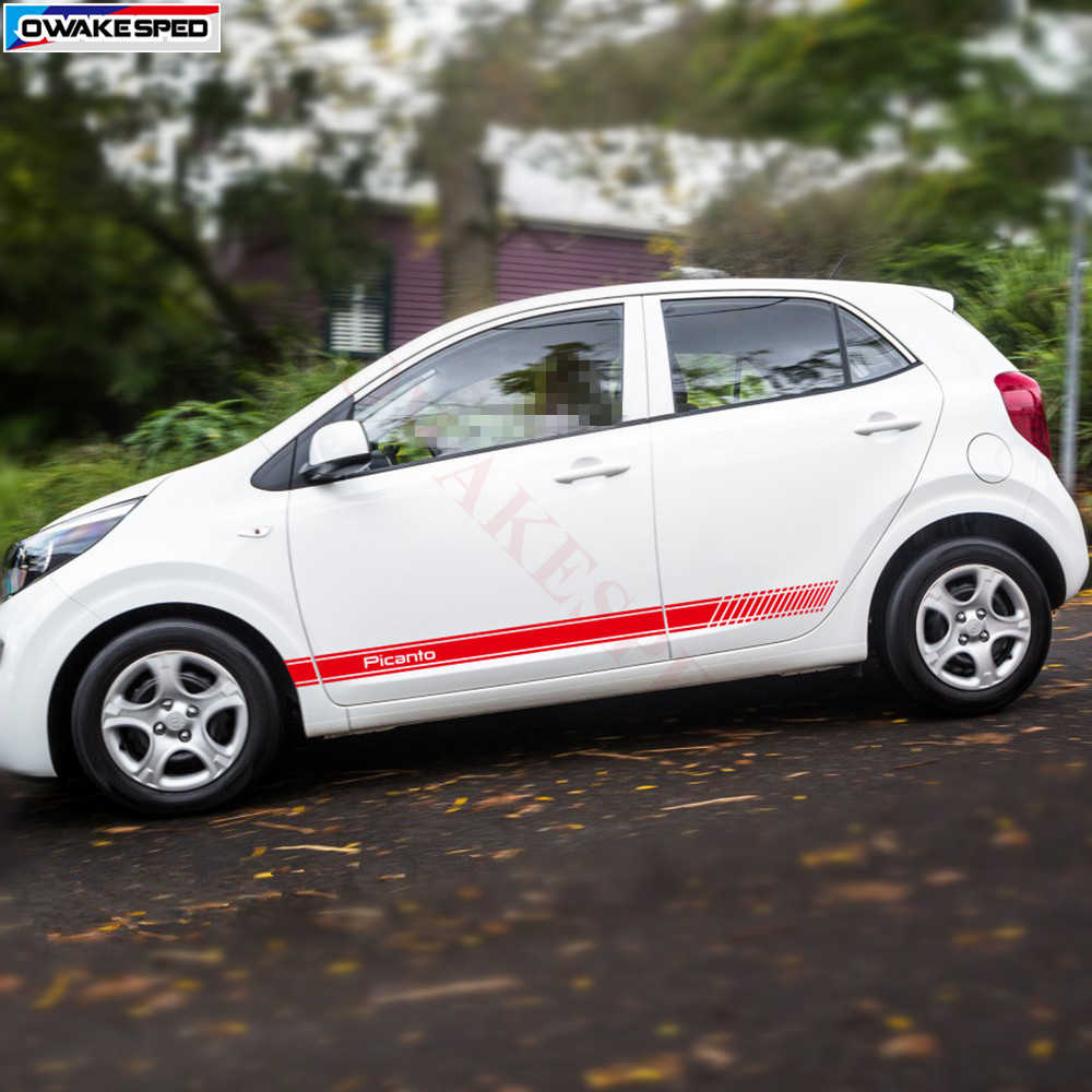 Kia Picanto Gt Line Hatchback: Detail Feedback Questions About Racing Flag Stripes Decals