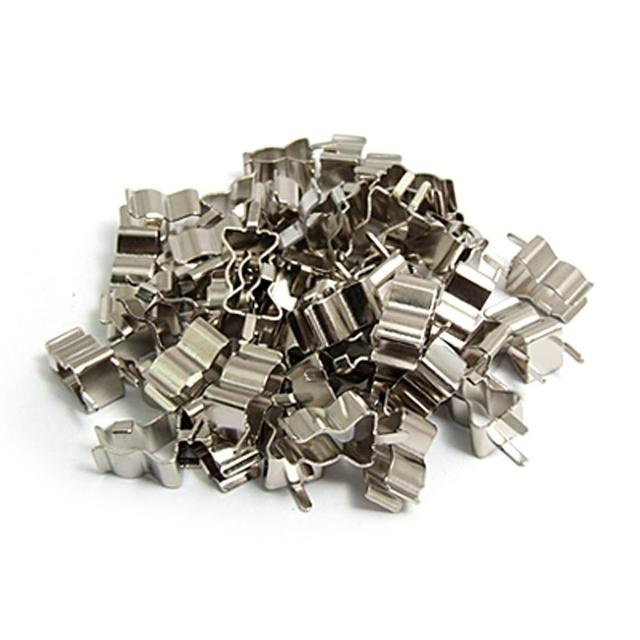 Promotion! 50 Pcs Plug In Clip Clamp for 5 x 20mm Electronic Fuse Tube