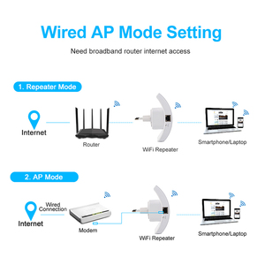 Image 5 - ワイヤレス無線 Lan リピータ無線 Lan レンジエクステンダー 300 150mbps のネットワーク Wi fi のアンプ信号ブースター Repetidor Wifi アクセスポイント