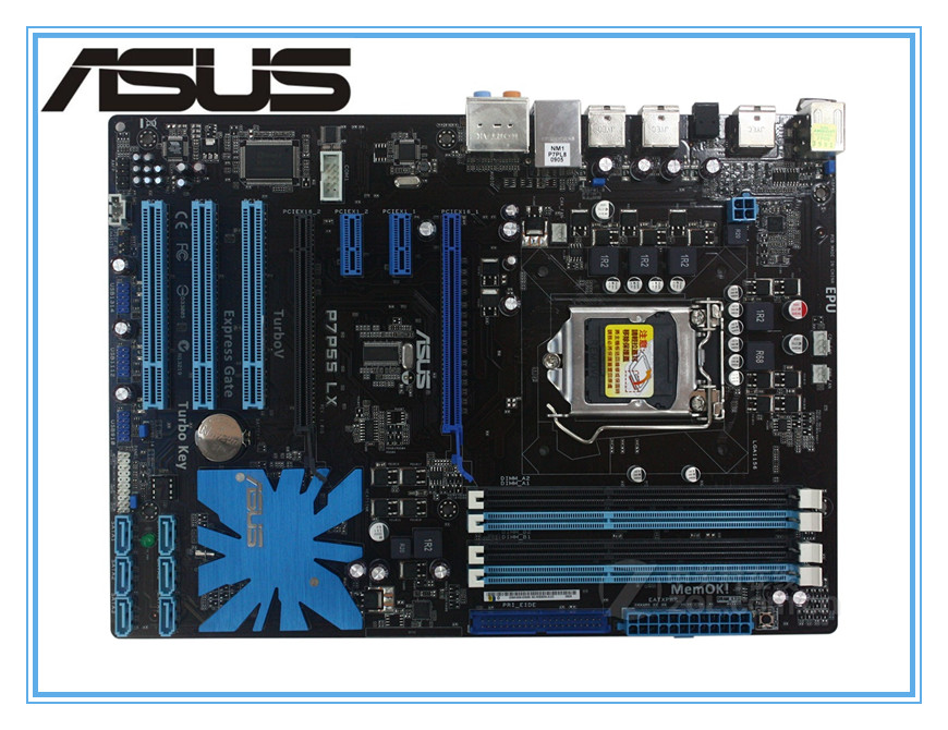 ASUS P7P55 LX original motherboard LGA 1156 DDR3 for i3 i5 i7 cpu 16GB USB2.0 P55 Desktop motherboard Free shipping original desktop motherboard for asus p8h61 m lx ddr3 lga 1155 for i3 i5 i7 cpu 16gb usb2 0 h61 desktop mainboard free shipping