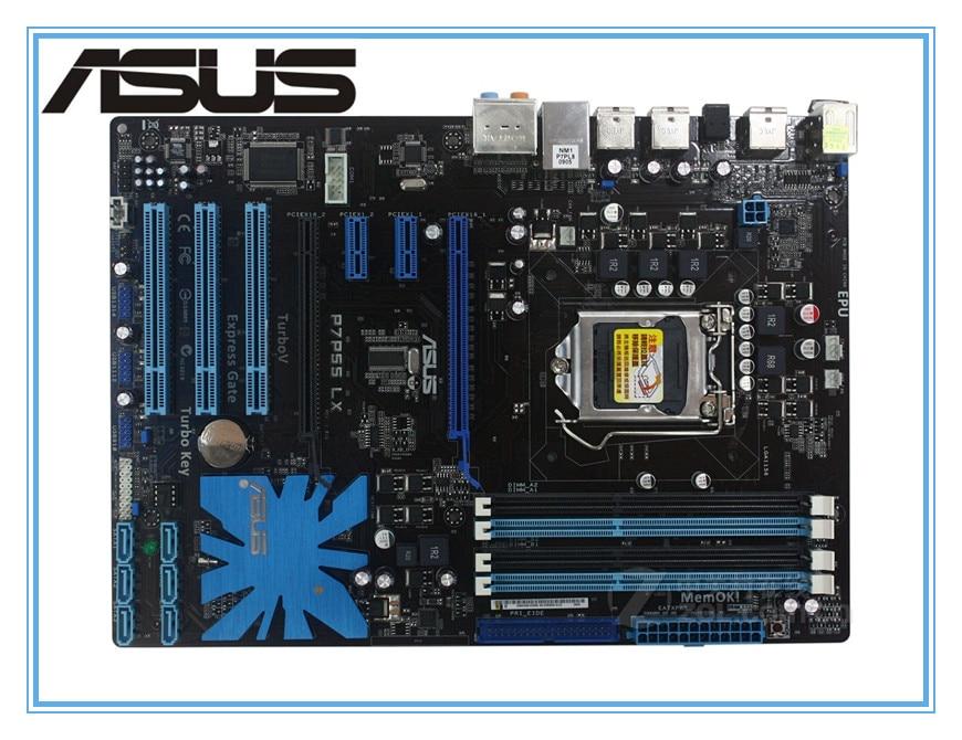 ASUS P7P55 LX originale della scheda madre LGA 1156 DDR3 per i3 i5 i7 cpu 16 gb USB2.0 P55 scheda madre Desktop di Trasporto trasporto libero