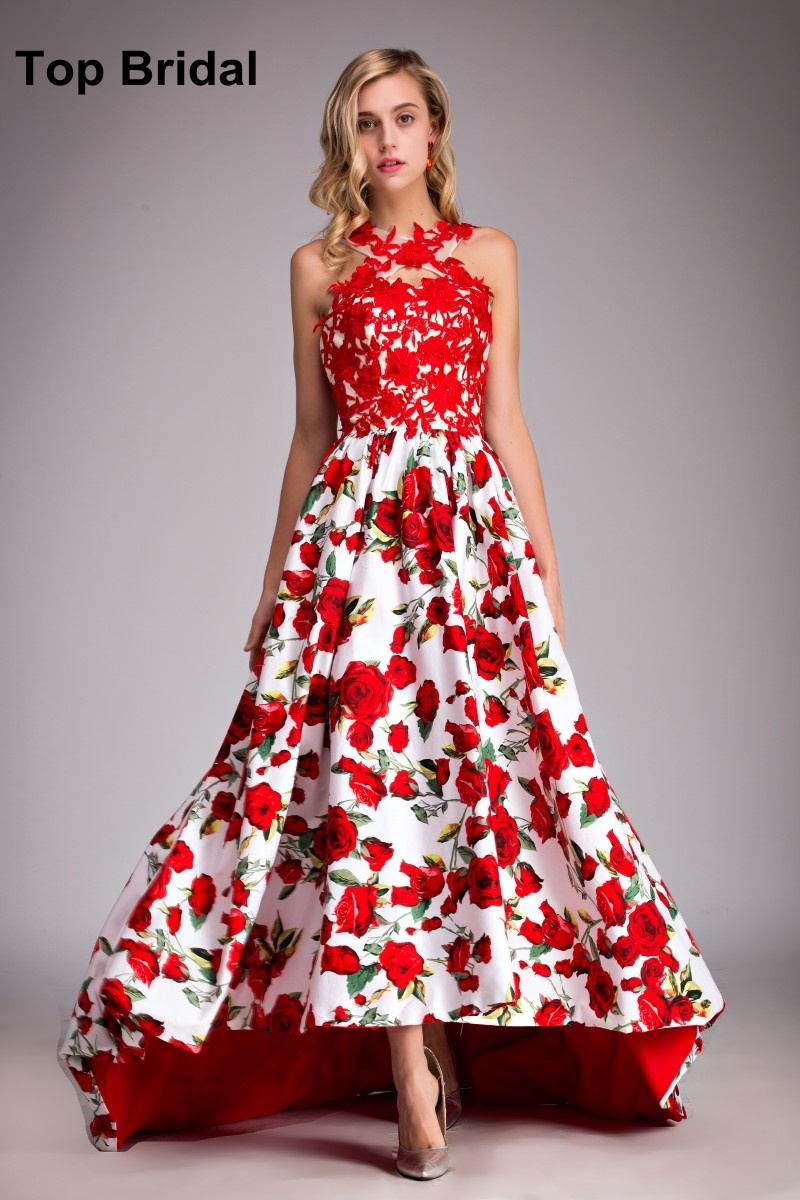 Asymmetrical Prom Dresses UK 2016 Real Photos Modest Red ...Red High Low Prom Dresses 2013
