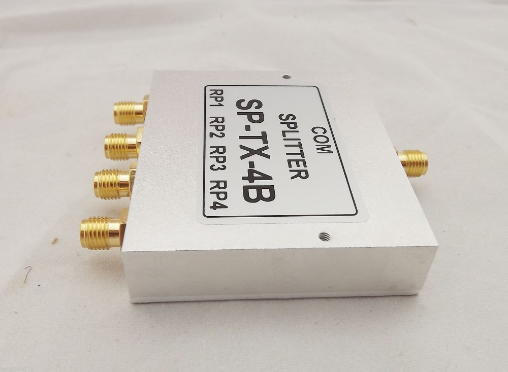 Power Splitter Divider Combiner RF Coaxial SMA 4-way Signal Booster 380-8000MHz