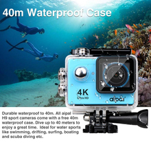 Aipal H9 Action Camera Ultra HD 4K 8.0MP 170 Degree Wide Angle 1080P/60FPS WiFi 2.0 LCD Waterproof DV Sport Recorder Video Cam