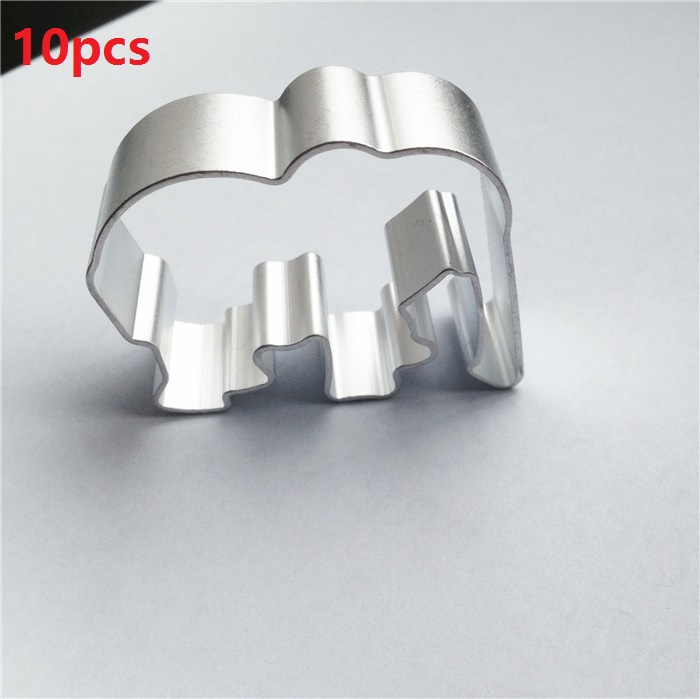 Free Shipping 10pcs Elephant Shaped Metal Cookie Cutter Cookies Mold Fruit Biscuit Moulds  african elephant